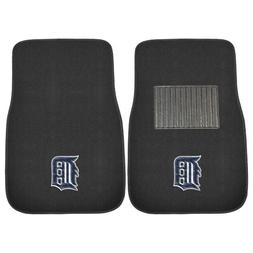 FANMATS 10750 MLB Detroit Tigers 2-Piece Embroidered Car Mat