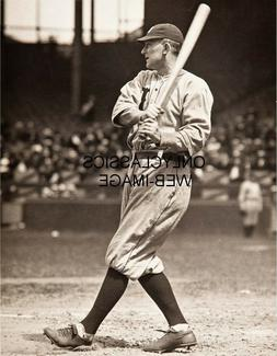 1918 BASEBALL GREAT TY COBB AT BAT 8X10 PHOTO DETROIT TIGERS
