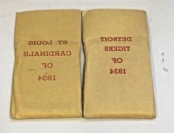 APBA 1934 WORLD SERIES BASEBALL GAME CARDS:DETROIT TIGERS vs
