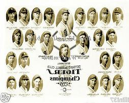 1935 DETROIT TIGERS WORLD SERIES CHAMPIONS BASEBALL TEAM 8X1