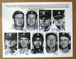 1968 World Series Detroit Tigers Starting Line Up Signed 8x1