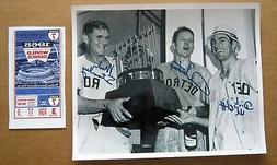 1968 World Series Game 7 Trophy Detroit Tigers Photo w print