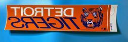 "1970's Detroit Tigers 4"" X 14"" Bumper Sticker MLB Rare Old V"