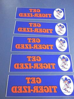 1980's 5 Get Tiger-ized Bumper Stickers, Detroit Tigers