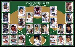 1984 DETROIT TIGERS Baseball Card POSTER Wall Art Man Cave D