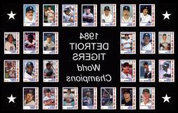 1984 DETROIT TIGERS World Series POSTER Wall Art Man Cave De