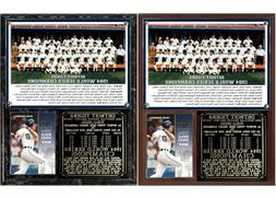 1984 Detroit Tigers World Series Champions Photo Card Plaque