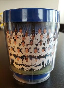 1984 NY YANKEES PLASTIC THERMAL COFFEE MUG FROM GAME AGAINST