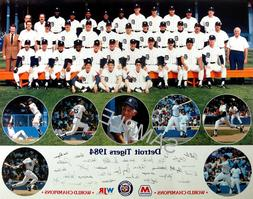 1984 WORLD SERIES WORLD CHAMPIONS DETROIT TIGERS TEAM 8x10