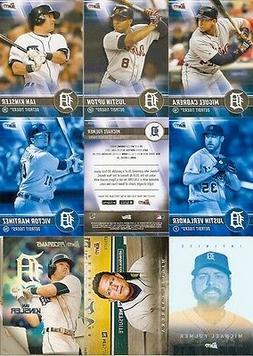 2017 Topps Bunt Detroit Tigers Team Set w/ Blue Parallel + I