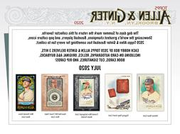 2020 TOPPS ALLEN & GINTER 1 BOX BREAK #3 - PICK YOUR TEAMS