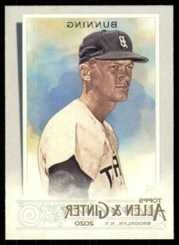 2020 Topps Allen and Ginter Base SP #341 Jim Bunning - Detro