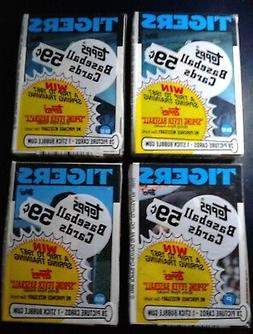 4 Topps Unopened Packs 1986 Detroit Tigers Baseball Cards -