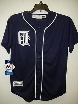 9430 BOYS Youth Majestic DETROIT TIGERS Full Button Down Bas