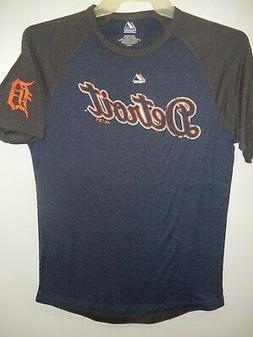 9601-4 MENS Majestic DETROIT TIGERS Baseball Jersey Shirt Ne