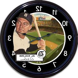 Al Kaline Detroit Tigers Baseball Card Wall Clock Briggs Sta