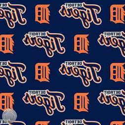 Detroit Tigers Allover Cotton Fabric