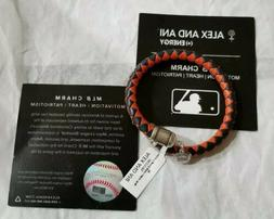 AUTHENTIC ALEX AND ANI DETROIT TIGERS MLB LEATHER WRAP CHARM