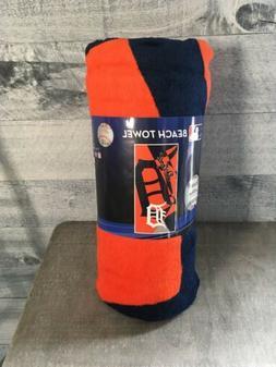 Beach Towels 34 x 72 Fiber Reactive - MLB Detroit Tigers Bas