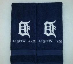 CUSTOM - PERSONALIZE DETROIT TIGERS LOGO EMBROIDERED NAVY HA