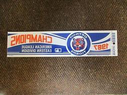 Dead Stock 1987 DETROIT TIGERS American League East Champion