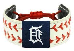 Detroit MLB Baseball Tigers 2- Seamer Seam Leather Bracelet