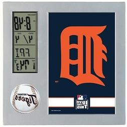 DETROIT TIGERS ~  Official MLB Team Desk Alarm Clock ~ New!