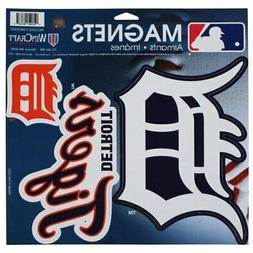 "WinCraft Detroit Tigers 11"" X 11"" 3-pack Car Magnets"