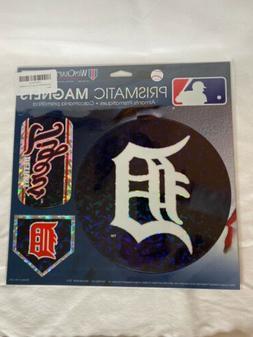 "Detroit Tigers 11""x11"" Prismatic Magnet Sheet  3 Magnets MLB"