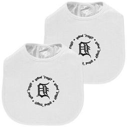 Detroit Tigers 2-Pack Baby Bibs - White
