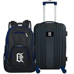 Detroit Tigers 2-Piece Luggage & Backpack Set - Black