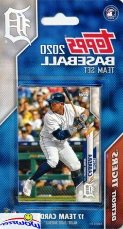 Detroit Tigers 2020 Topps Limited Edition 17 Card Team Set -