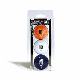 Detroit Tigers 3 Pack Golf Balls  MLB White Golfing Pk Ball
