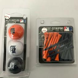 DETROIT TIGERS--3 PACK OF GOLF BALLS and 50 Count Pack of Te