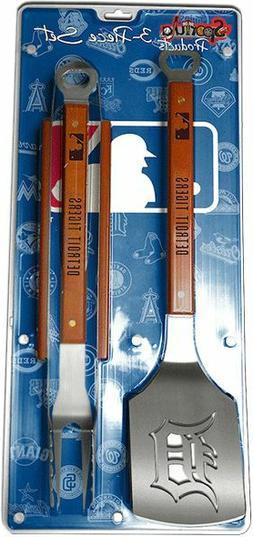 detroit tigers 3 piece bbq grill tools