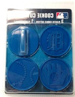 DETROIT TIGERS 4 PIECE COOKIE CUTTER SET LOGO BASEBALL MITT