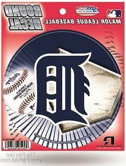"""Detroit Tigers 4"""" Round Vinyl Auto Decal Flat Bumper Sticker"""