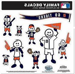 Detroit Tigers 9 Piece Jumbo Family Decals  Auto Car Sticker