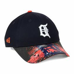 Detroit Tigers New Era 9FORTY MLB Splatter Visor Baseball Ca