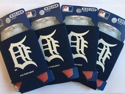 detroit tigers baseball can coolers koozies set