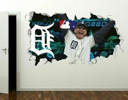 Detroit Tigers Baseball MLB Custom Wall Decals 3D Wall Stick