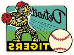Detroit Tigers  Baseball  MLB  Vintage Style 1950's  Travel