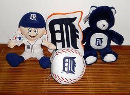 detroit tigers baseball player plush teddy bear