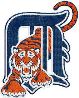 DETROIT TIGERS BASEBALL SET OF 2 BATH HAND TOWELS EMBROIDERE