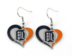 Detroit Tigers Baseball Team Logo MLB Heart Swirl Charm Dang