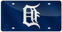 Detroit Tigers Blue Premium Laser Cut Tag Acrylic Inlaid Mir