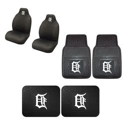 Detroit Tigers Car Truck Front Rear Heavy Duty Floor Mats Se