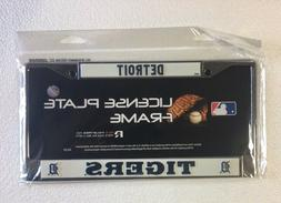 Detroit Tigers Chrome/Metal Auto Tag License Plate Frame New