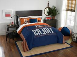Detroit Tigers Comforter Set MLB 3pc Full Queen Size Bedding