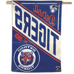 """DETROIT TIGERS COOPERSTOWN COLLECTION 28""""X40"""" BANNER FLAG NE"""